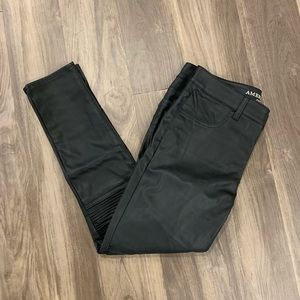 American Eagle Black Leather Pants